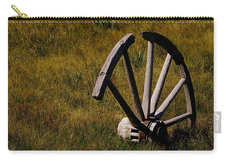 Landscape Carry-all Pouch featuring the photograph Broken Wheel by Shannon Nickerson