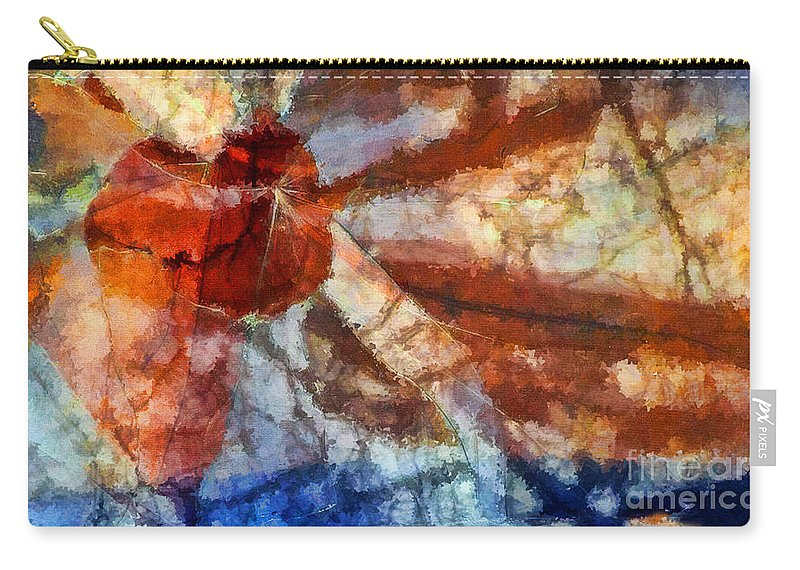 Abstract Expressionism Carry-all Pouch featuring the painting Broken Window Abstract by Henry J Yasses
