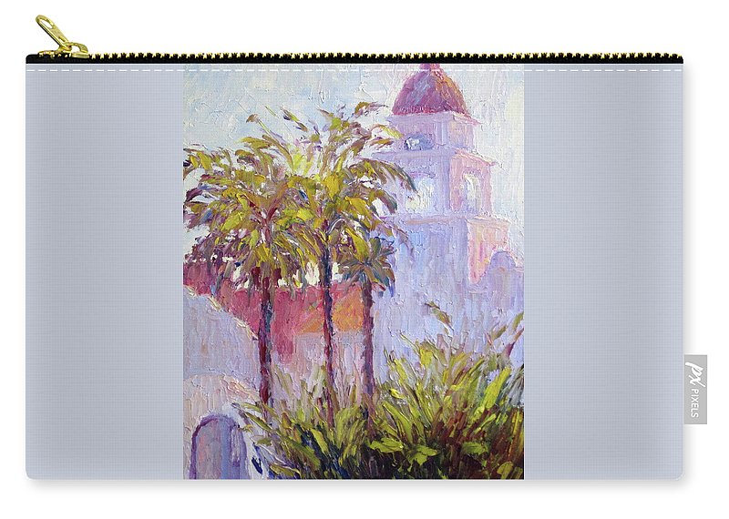 Art Carry-all Pouch featuring the painting Bronson Mansion by Terry Chacon