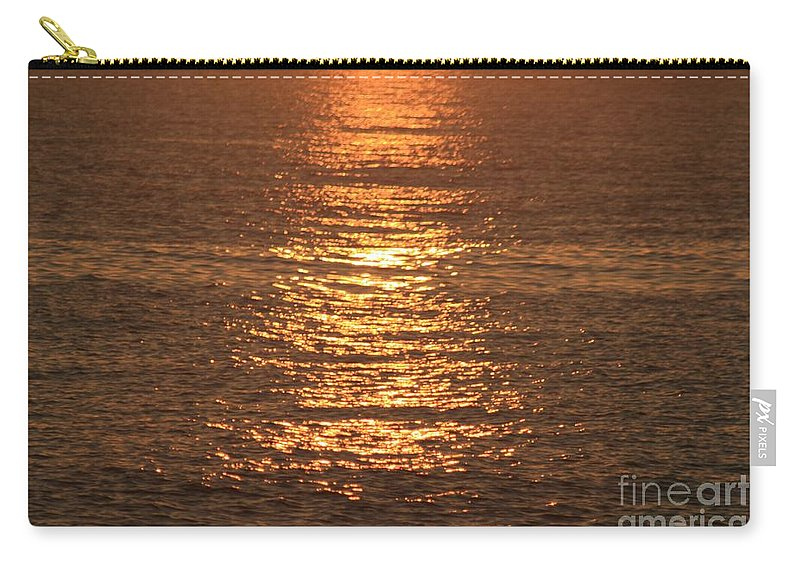 Ocean Carry-all Pouch featuring the photograph Bronze Reflections by Nadine Rippelmeyer