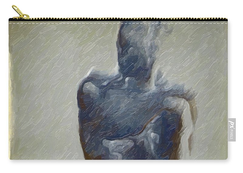 Abstract Carry-all Pouch featuring the digital art Bronze Statue by Joaquin Abella