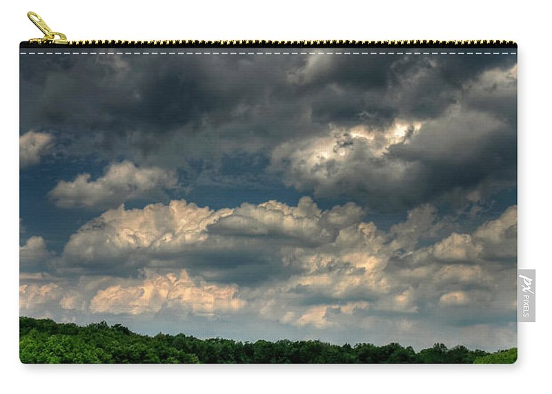 Old Barn Carry-all Pouch featuring the photograph Brooding Sky by Lois Bryan