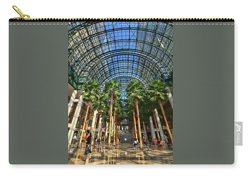 Atrium Carry-all Pouch featuring the photograph Brookfield Place Atrium - N Y C # 2 by Allen Beatty