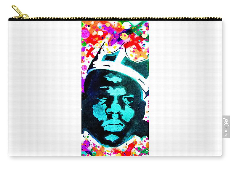 Nyc Carry-all Pouch featuring the digital art Brooklyn Jesus by Canvas Cultures