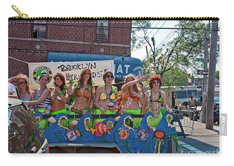 Mermaids Carry-all Pouch featuring the photograph Brooklyn Mermaids by Madeline Ellis