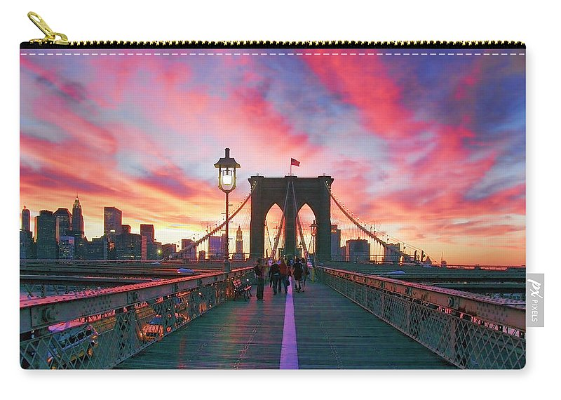 Brooklyn Carry-all Pouch featuring the photograph Brooklyn Sunset by Rick Berk