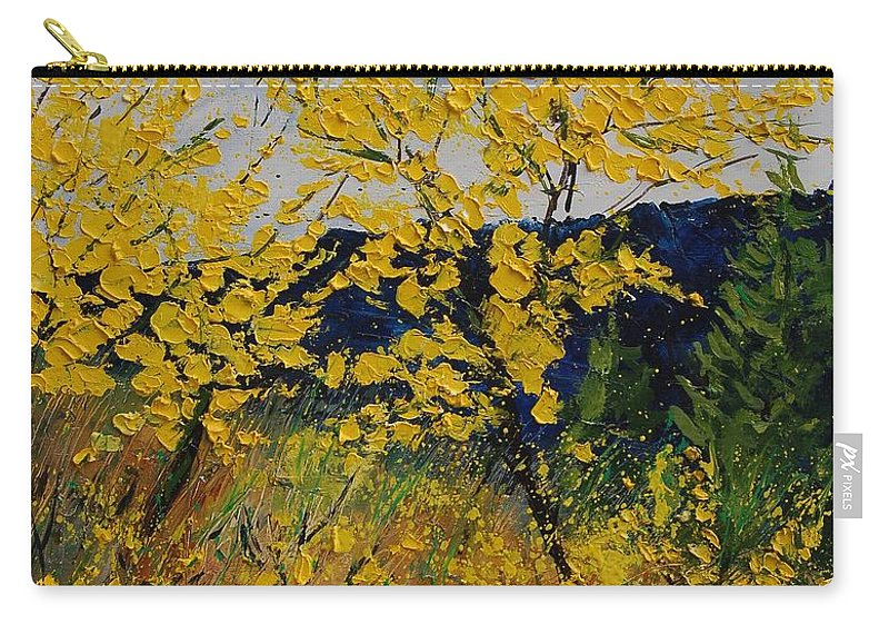 Flowers Carry-all Pouch featuring the painting Brooms by Pol Ledent