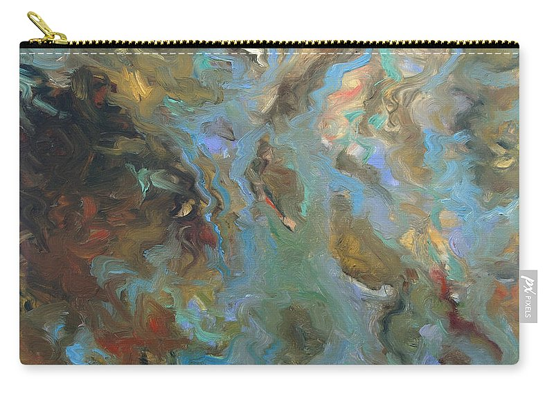 Water Carry-all Pouch featuring the painting Brown by Rick Nederlof