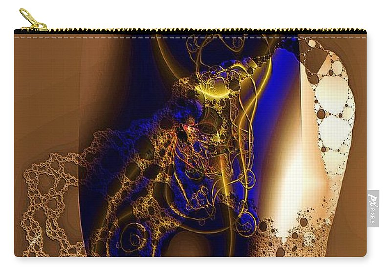 Browns Carry-all Pouch featuring the digital art Browns by Ron Bissett