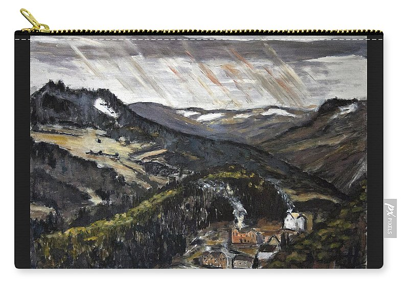 Landscape Carry-all Pouch featuring the painting Brrr To Byla Zima by Pablo de Choros