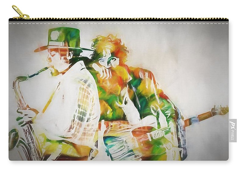 Bruce And The Big Man Carry-all Pouch featuring the painting Bruce And The Big Man by Dan Sproul