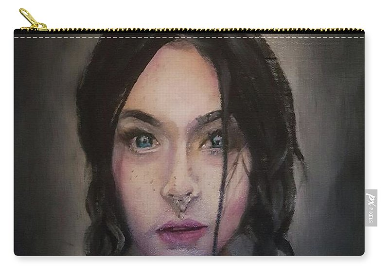 Oil Carry-all Pouch featuring the painting Brudna by Un Lobo