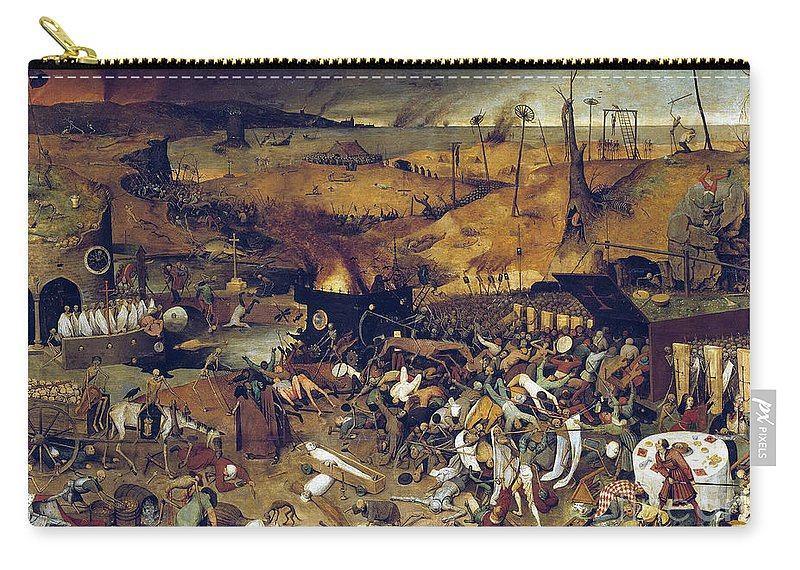 1562 Carry-all Pouch featuring the photograph Bruegel: Triumph Of Death by Granger