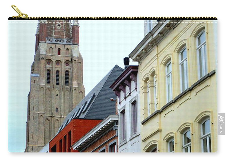 Bruges Carry-all Pouch featuring the photograph Bruges 3 by Randall Weidner