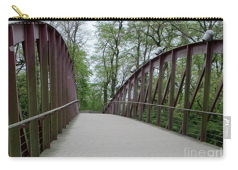 Bruges Carry-all Pouch featuring the photograph Bruges Bridge 1 by Randall Weidner