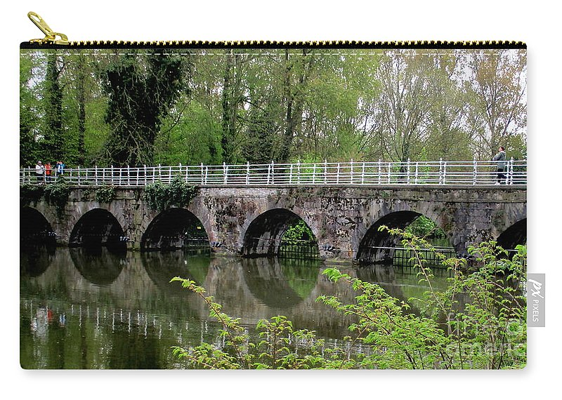 Bruges Carry-all Pouch featuring the photograph Bruges Bridge 2 by Randall Weidner