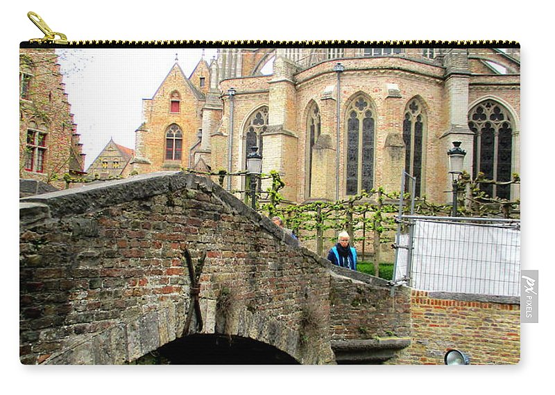 Bruges Carry-all Pouch featuring the photograph Bruges Bridge 4 by Randall Weidner