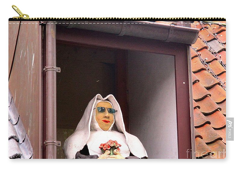 Bruges Carry-all Pouch featuring the photograph Bruges Detail 2 by Randall Weidner