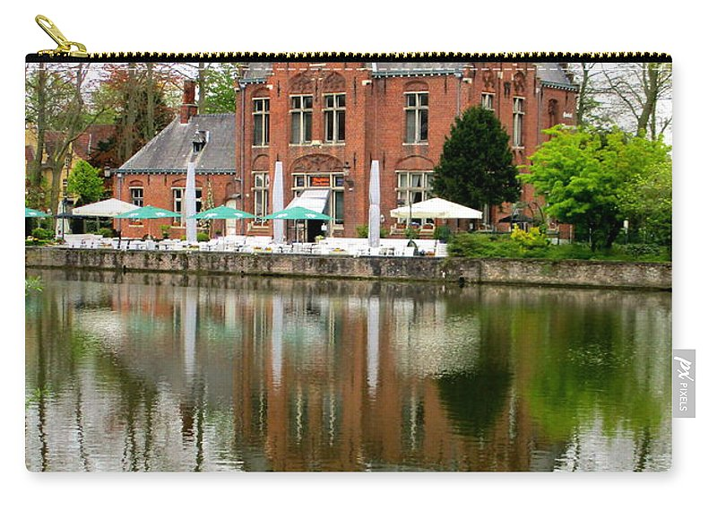 Bruges Carry-all Pouch featuring the photograph Bruges Kasteel Minnewater by Randall Weidner