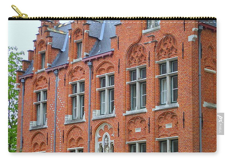 Bruges Carry-all Pouch featuring the photograph Bruges Sashuis 3 by Randall Weidner