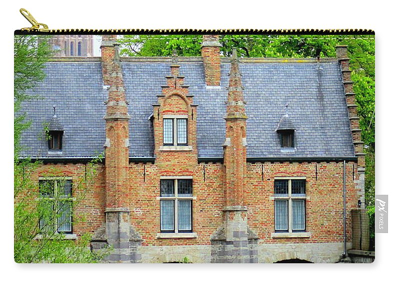 Bruges Carry-all Pouch featuring the photograph Bruges Sashuis 4 by Randall Weidner