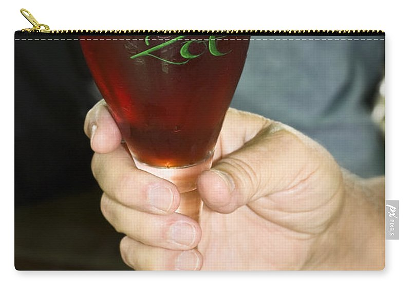 Stemmed Glass Carry-all Pouch featuring the photograph Brugge Belgium Beer by Sally Weigand