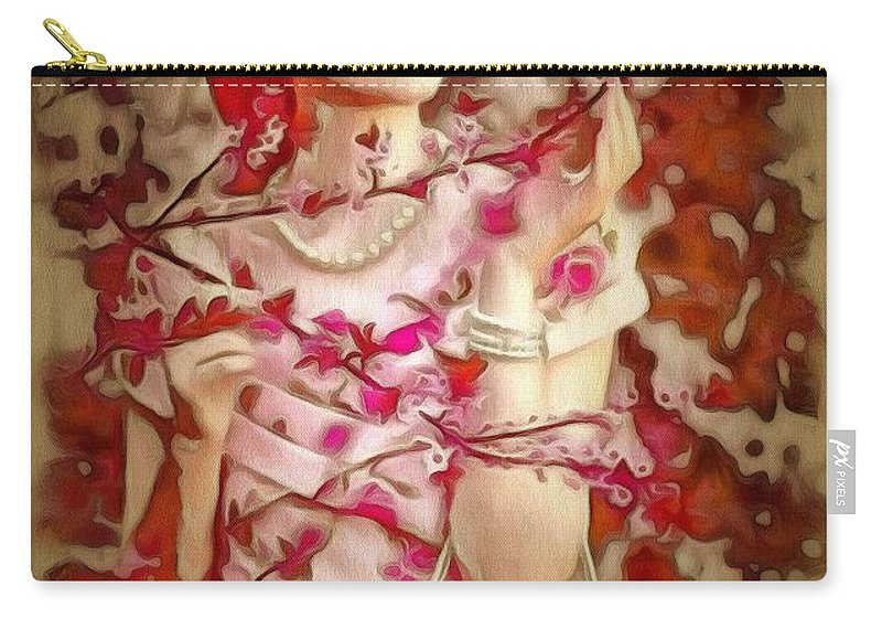 Brunch In Ambiance Carry-all Pouch featuring the painting Brunch In Ambiance by Catherine Lott