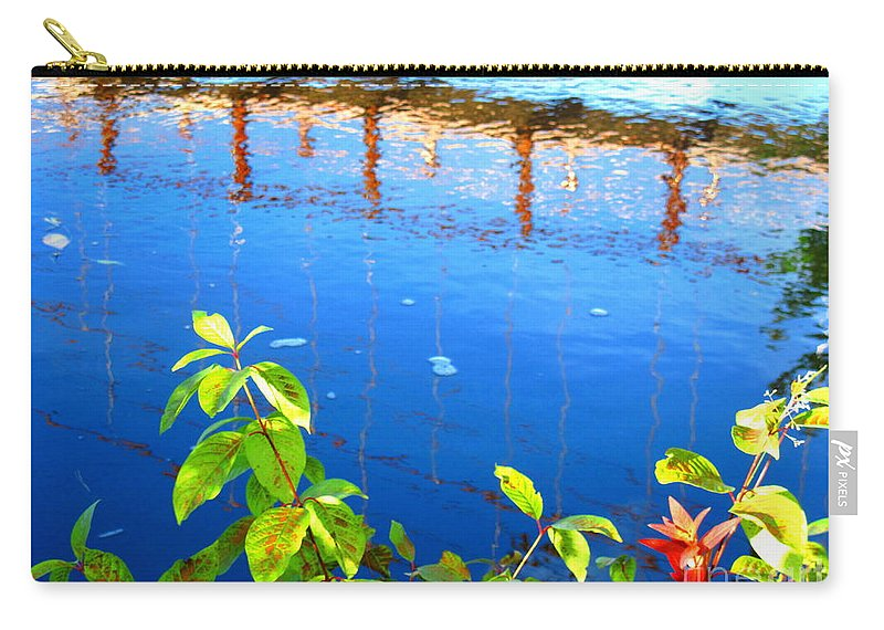 Water Carry-all Pouch featuring the photograph Brunswick Maine Walking Bridge by Sybil Staples