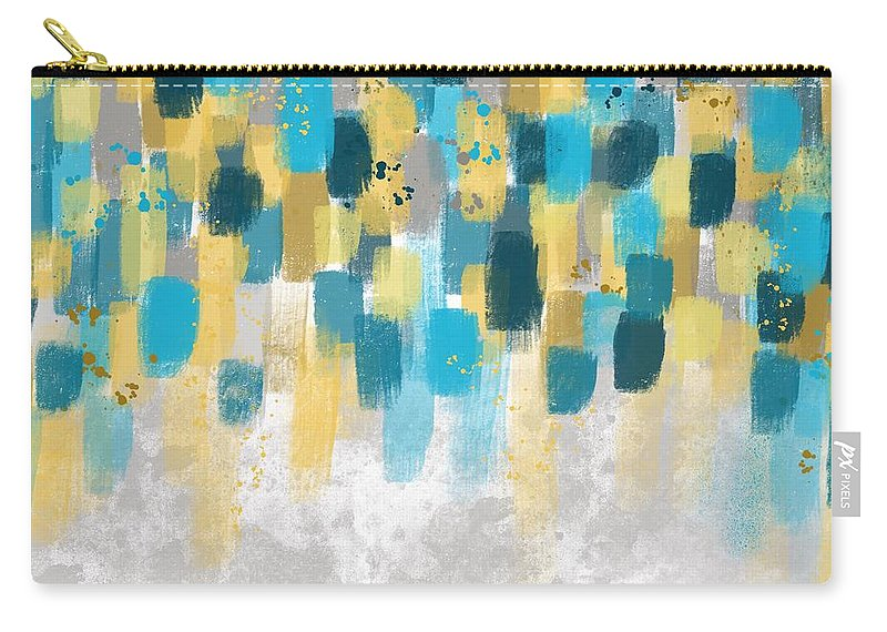 Art Carry-all Pouch featuring the digital art Brushstrokes by Monica Martin