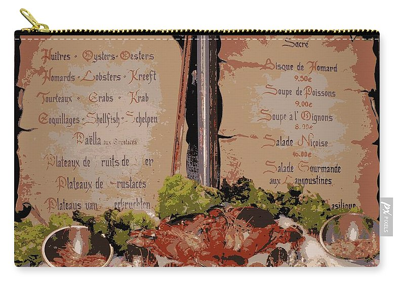 Brussels Carry-all Pouch featuring the photograph Brussels Menu - Digital by Carol Groenen