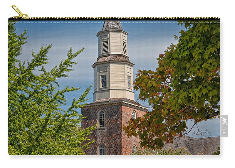 Williamsburg Carry-all Pouch featuring the photograph Bruton Parish Church by Christopher Holmes