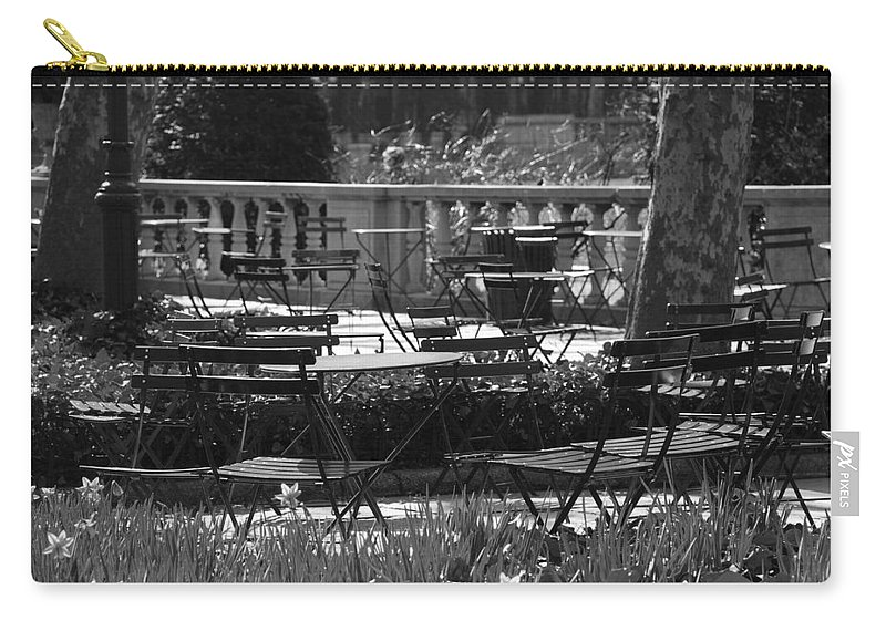 Black And White Carry-all Pouch featuring the photograph Bryant Park In Black And White by Rob Hans