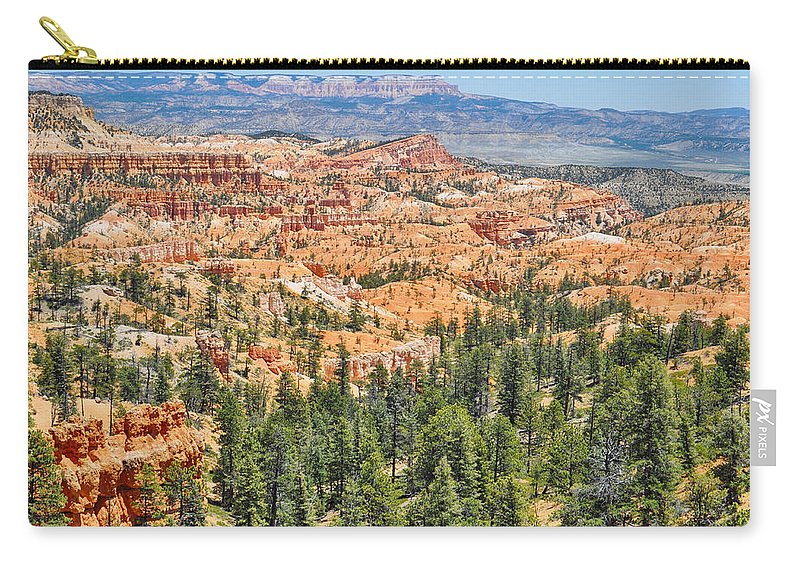Bryce Canyon National Park Carry-all Pouch featuring the photograph Bryce Canyon Fairyland Vista Point by Kyle Hanson