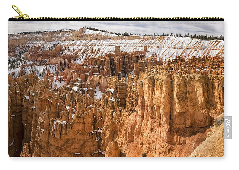 Bryce Carry-all Pouch featuring the photograph Bryce Canyon Winter Panorama - Bryce Canyon National Park - Utah by Brian Harig