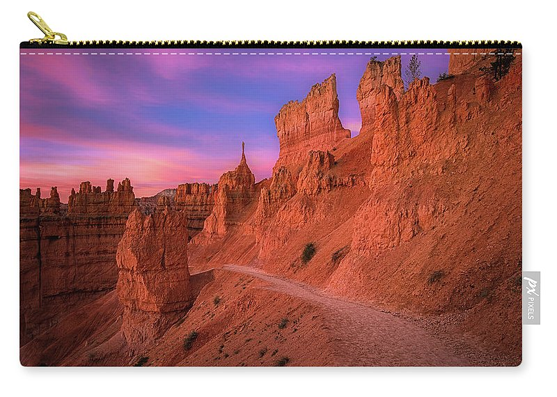 Amazing Carry-all Pouch featuring the photograph Bryce Trails by Edgars Erglis