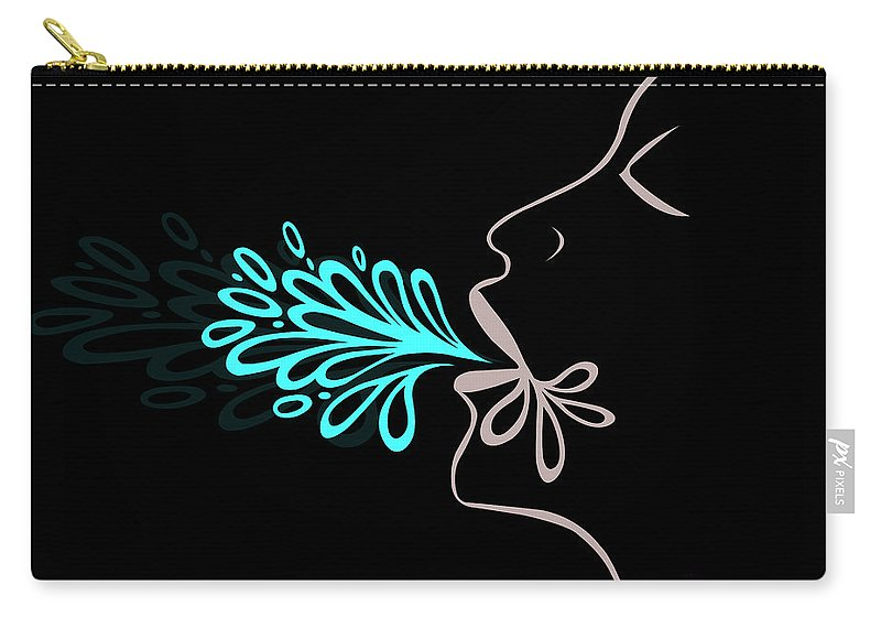 Carry-all Pouch featuring the digital art Bubble Breath by Jamie Lynn