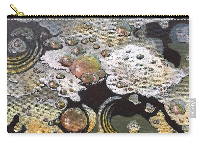 Sandra Hansen Carry-all Pouch featuring the drawing Bubble, Bubble, Toil and Trouble 2 by Art Nomad Sandra Hansen