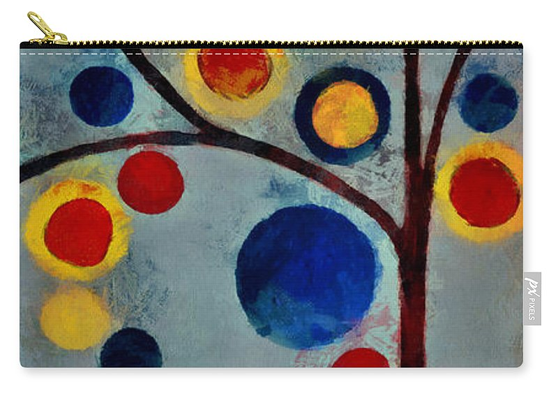 Tree Carry-all Pouch featuring the painting Bubble Tree - Dps02c02f - Left by Variance Collections