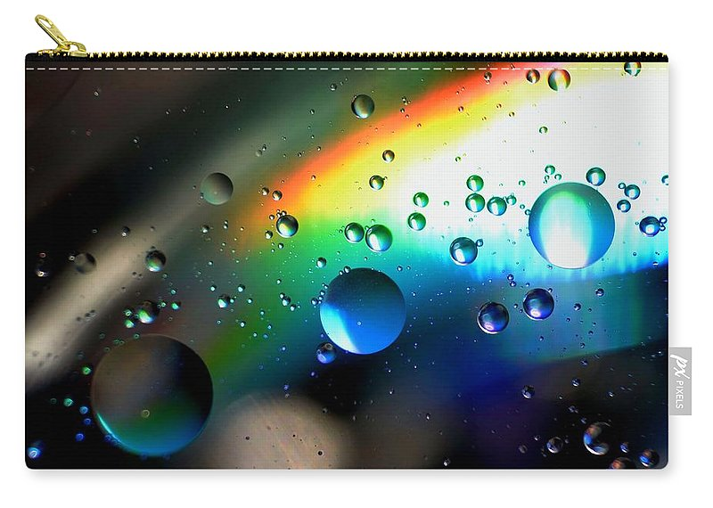 Bubbles Abstract Carry-all Pouch featuring the photograph Bubbles Abstract by Sandeep Kumar Dogra