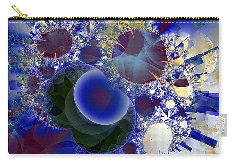 Bubbles Carry-all Pouch featuring the digital art Bubbles Concentrated by Ron Bissett