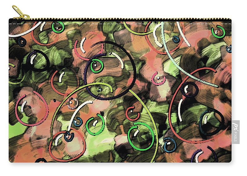 Abstract Carry-all Pouch featuring the digital art Bubbles by Rachel Christine Nowicki