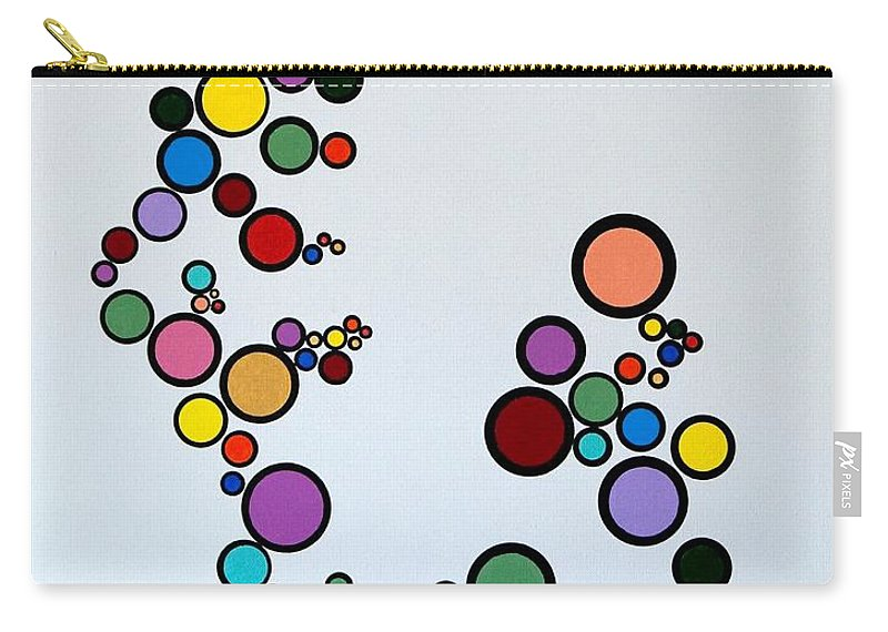 Abstract Carry-all Pouch featuring the painting Bubbles2 by Thomas Gronowski