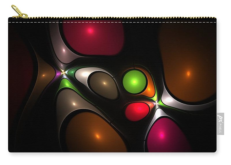 Bubble Carry-all Pouch featuring the digital art Bubbleshock by Steve K