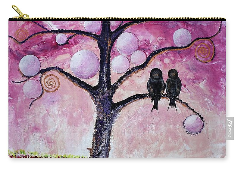 Bubbles Carry-all Pouch featuring the painting Bubbletree by Barbara Teller