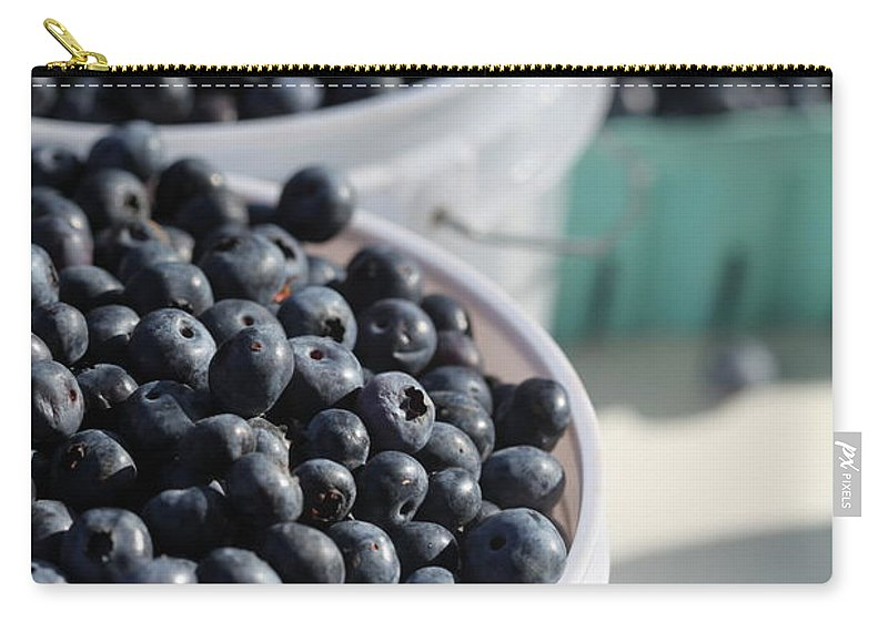 Blue Carry-all Pouch featuring the photograph Buckets Of Blue... by Nadine Rippelmeyer