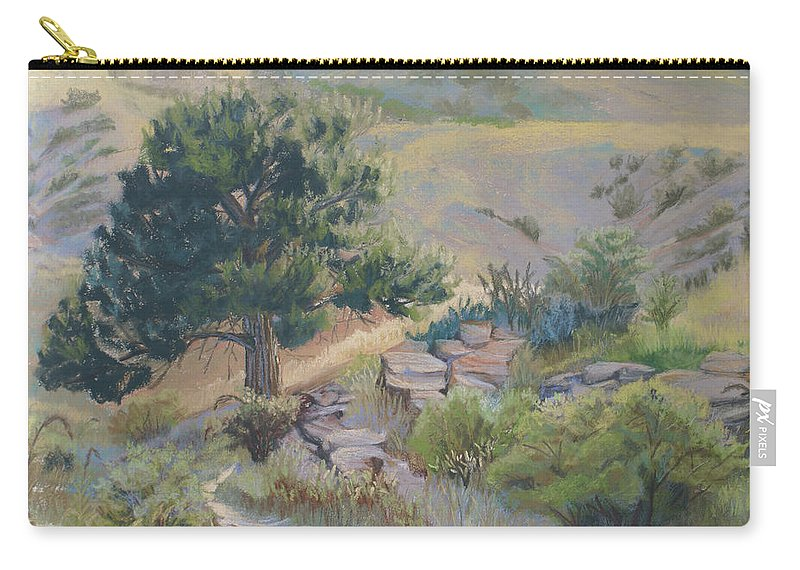 Pine Tree Carry-all Pouch featuring the painting Buckhorn Canyon by Heather Coen