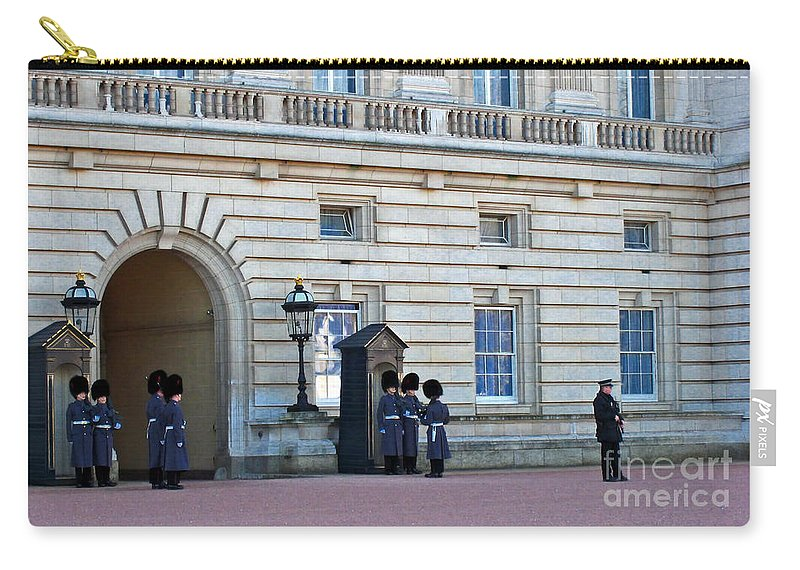 London Carry-all Pouch featuring the photograph Buckingham Palace Guards by Madeline Ellis