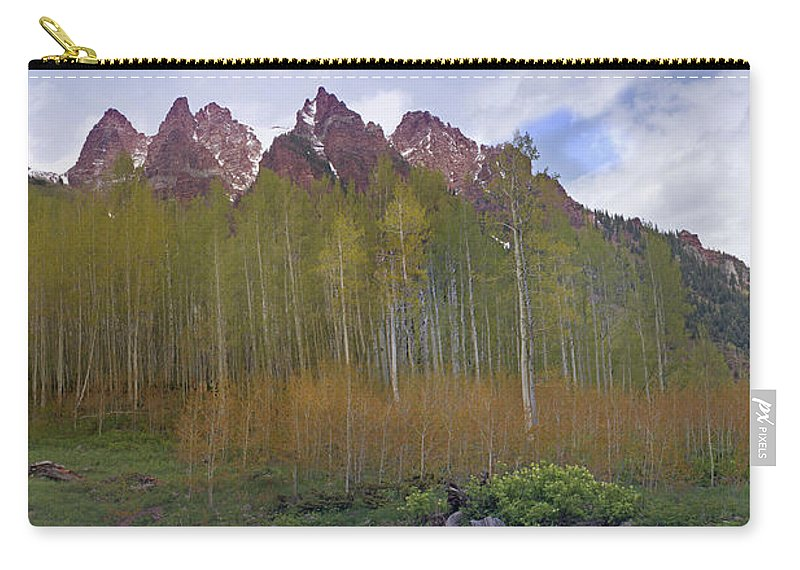 Mountain Carry-all Pouch featuring the photograph Buckskin Mtn And Friends by Heather Coen