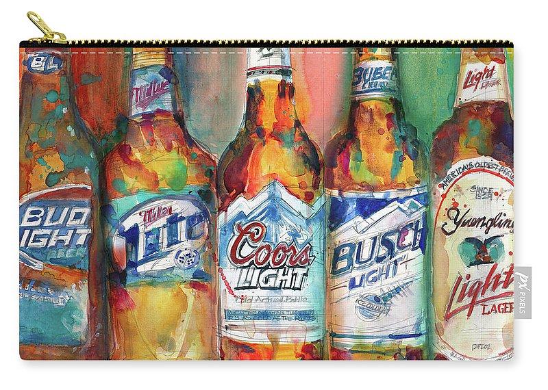 Bud Light Miller Lite Coors Light Busch Light Yuengling Light Combo Beer  Carry-all Pouch