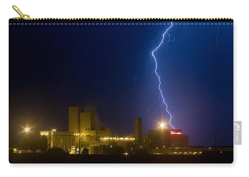 Lightning Carry-all Pouch featuring the photograph Bud Light Ning by James BO Insogna